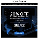 Scottevest 20% Off Sale & 50% Off International Shipping