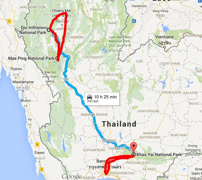 Thai map