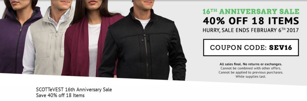 scottevest sale feb