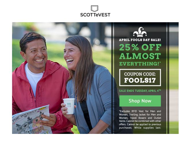 ScotteVest features apparel with back pockets, bluteooth pocket, bottle holders.